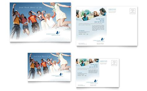 christian ministry postcard template word publisher