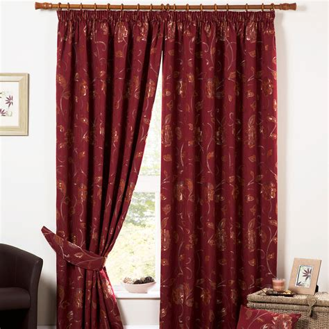 Heavy Curtains by Luxury Heavy Weight Jacquard Curtains Pencil Pleat Lined