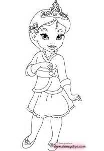 Disney Princess Babies Coloring Pages