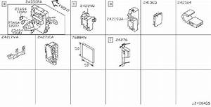 Infiniti Q45 Relay Box  Engine  Body  Room