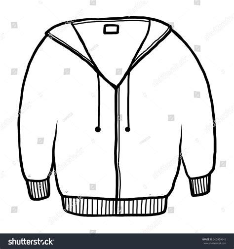jacket sweater cartoon vector illustration black stock