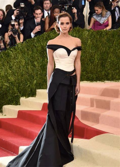Emma Watson Attends Met Gala Amazing Eco Dress