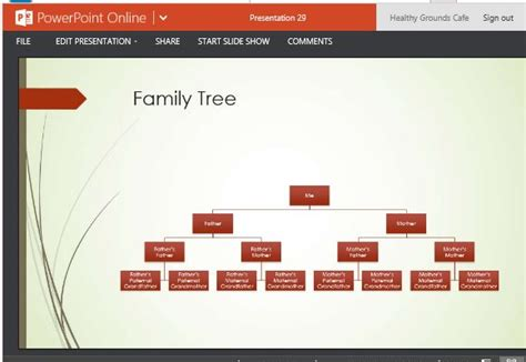 Family Tree Chart Template PowerPoint