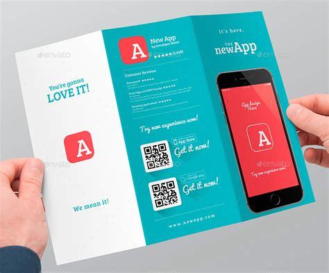 Apple Iphone Brochure Templates Mobile App Trifold Brochure Vol 1 Mobile App Brochures