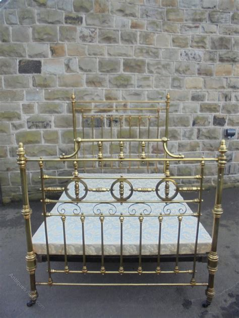 antique victorian brass double bed frame antiques atlas