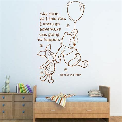 stickers chambre bébé disney wall quote winnie the pooh wall sticker boys