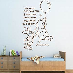 Wall quote winnie the pooh sticker art girls boys