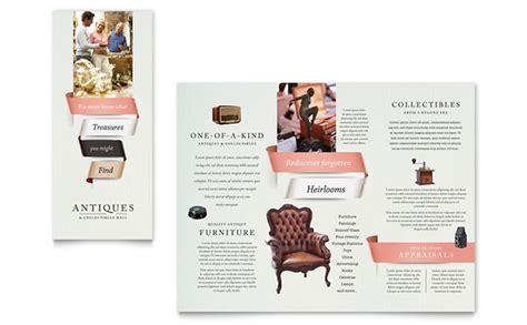 Z Fold Brochure Template Indesign Custom Brochure Antique Mall Brochure Template Design