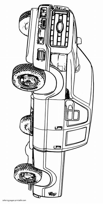 Coloring Pages Pickup Popular Cars Truck Printable