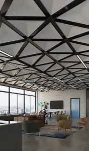 Face Designs Trisoft Ceiling System Adds Faceted Dimensionality And
