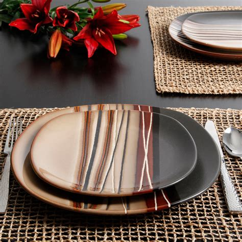 Better Homes And Garden Dishes by Better Homes And Gardens Bazaar Brown 16 Dinnerware