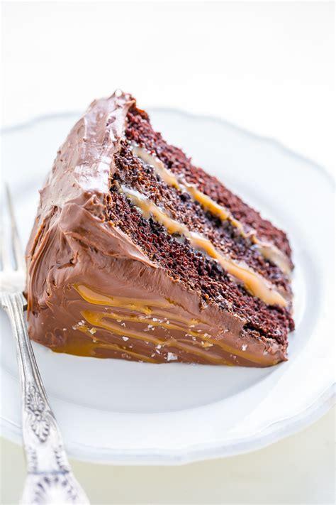 salted caramel chocolate cake baker  nature