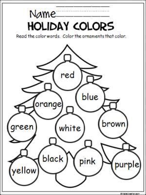 christmas worksheets for kindergarten pinterest free christmas coloring activity to help pre k and