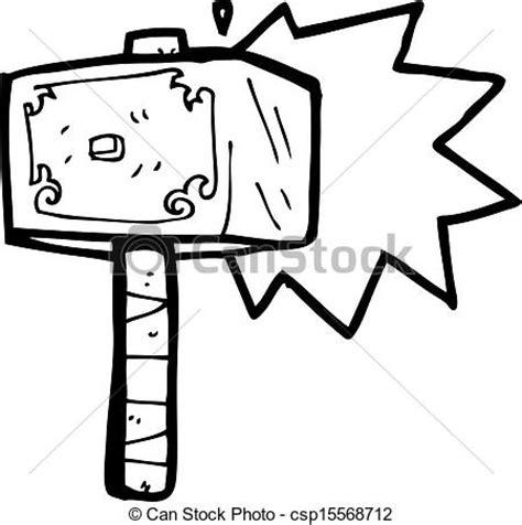 vector clip art of cartoon hammer of thor csp15568712