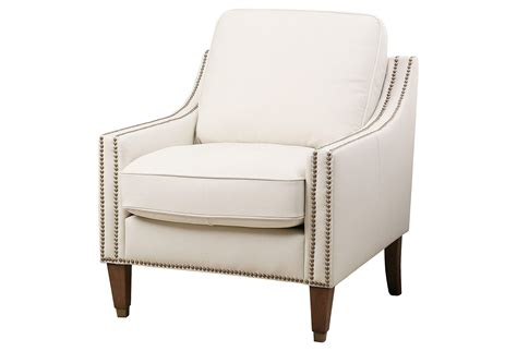 tara leather accent chair ivory accent from one