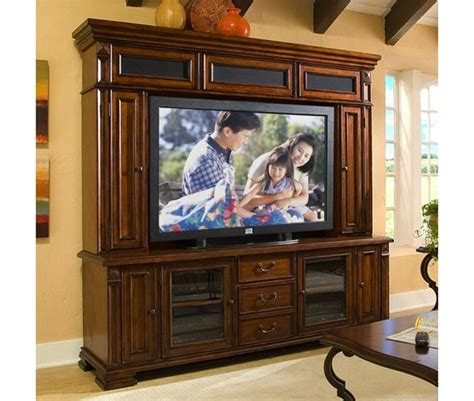 tv stand 80 inch serenato 80 inch tv console and hutch in camella cherry