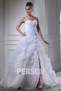Robe De Mariée Moderne : robe de mari e moderne d collet en c ur seule paule en ~ Melissatoandfro.com Idées de Décoration