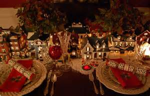 brautkleider aus tã ll table setting tablescape with dept 56 lit houses and lenox china