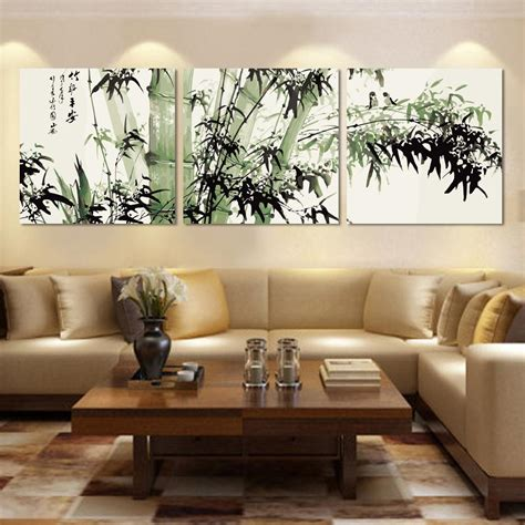 Top Fashion Modern Abstract Bamboo Canvas Painting On The