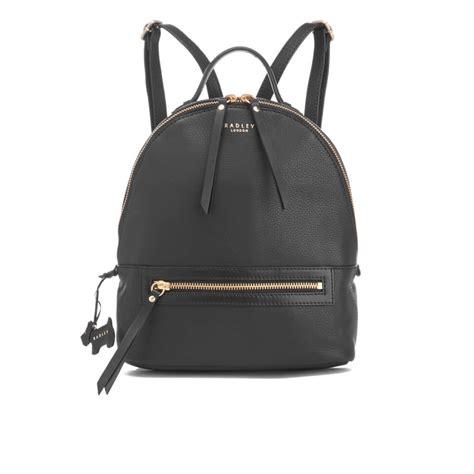 radley womens northcote road medium zip top backpack black