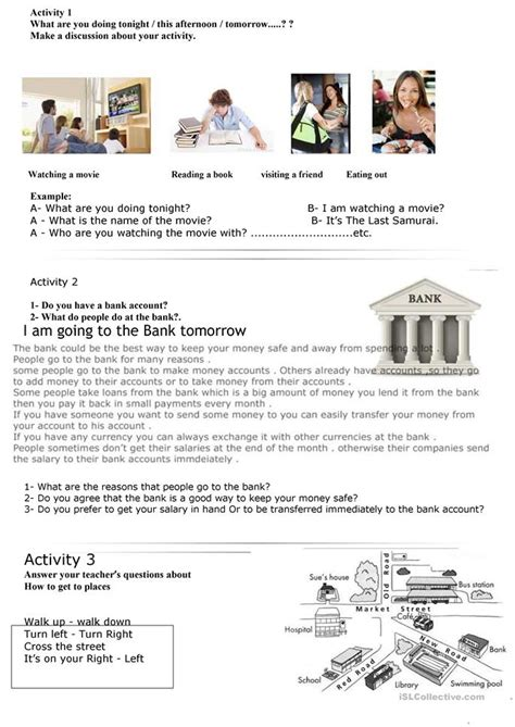 The Bank Worksheet  Free Esl Printable Worksheets Made By Teachers