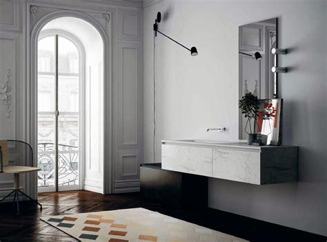 meuble de salle de bain suspendu en marbre blanc mbtgr