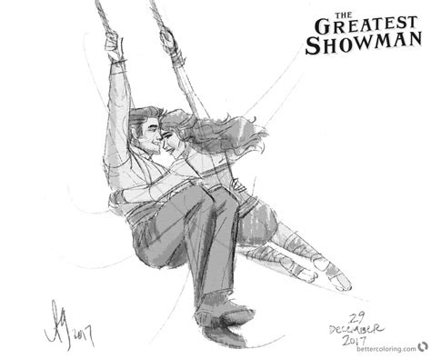 The Greatest Showman Coloring Pages Figure Drawing By