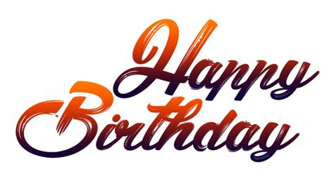 happy birthday png fonts    images