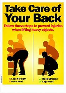 Workplace Safety Poster - Take Care of Your Back Safety