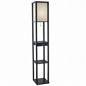 adessor etagere floor lamp with drawer bed bath beyond With shelf floor lamp bed bath and beyond