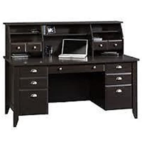 Sauder Executive Desk Jamocha by Sauder 174 Shoal Creek Contemporary Executive Desk With Hutch