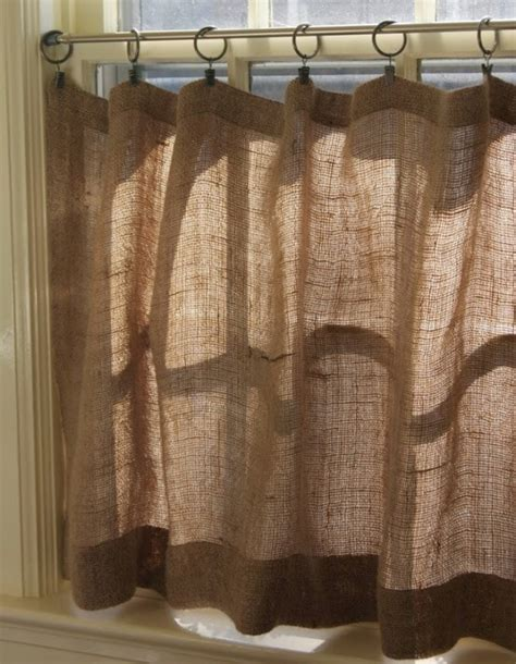 Cheap Easy Curtains by πως να ενσωματώσετε λινάτσα στην οικιακή σας διακόσμηση
