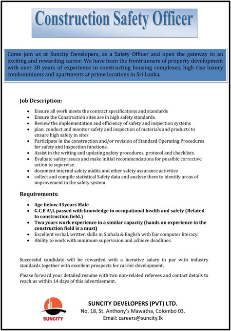 Workplace Health And Safety Officer Resume by Safety Resume Resume For Safety Officer Professional