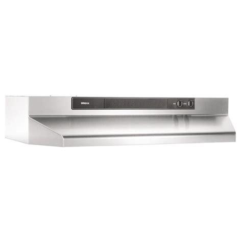 broan cabinet range shop broan undercabinet range stainless steel black