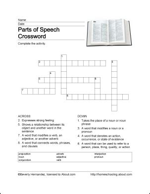 parts of speech word search crossword puzzle and more grammar worksheets complete sentences