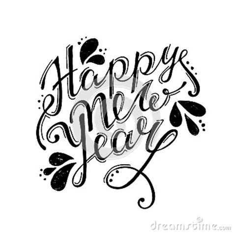 happy  year hand lettering vector stock vector image