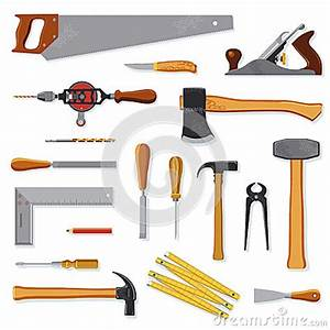 94 Outil De Bricolage : old carpenter tools on white stock vector image 67308503 ~ Dailycaller-alerts.com Idées de Décoration