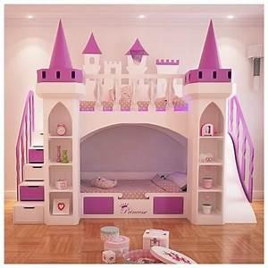 Lit Pour Fille : lit superpos chateau pour la chambre fille princesse lit rosny nestis ~ Teatrodelosmanantiales.com Idées de Décoration
