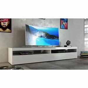 Tv Board 200 Cm : burrata meuble tv 200cm laqu blanc achat vente meuble tv burrata meuble tv 2p blanc bois ~ Whattoseeinmadrid.com Haus und Dekorationen