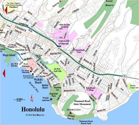 Waikiki Oahu Honolulu Hawaii Maps