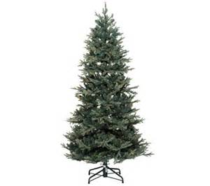 bethlehem lights 9 blue spruce christmas tree w instant power qvc com