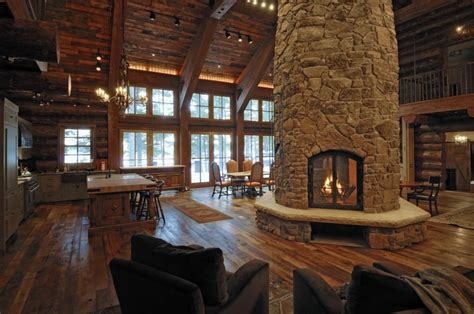 Log Home Interior Gallery  Yellowstone Log Homes