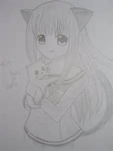 Anime Cat Girl Drawing