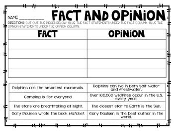 fact and opinion by education lahne teachers pay teachers
