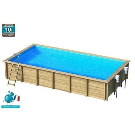piscine bois rectangulaire enterree weva piscine bois rectangle 8x4 m hauteur 1 46 m achat vente piscine piscine bois rectangle