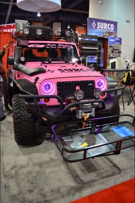 girly jeep accessories crazy pink jeep wrangler my jeep obsession pinterest