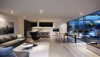 interior design ideas for kitchen and living room spacious modern living room interiors