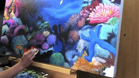 Malerei Deckenbild Korallenriff 1x1 Meter, Acryl Auf