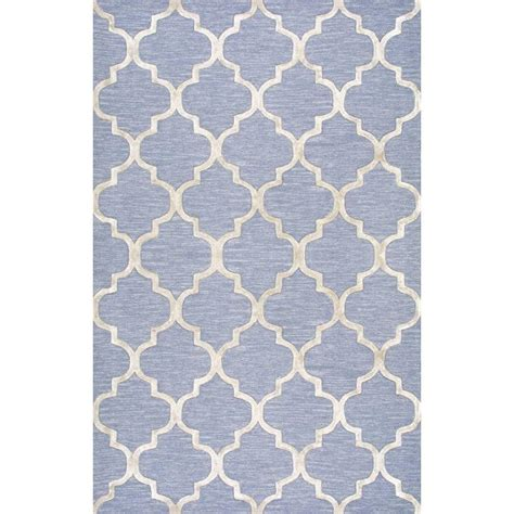 blue trellis rug nuloom park avenue trellis light blue 5 ft x 8 ft area
