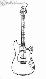 Coloring Pages Guitar Clip Playing sketch template